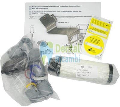 Immagine di DURR Kit Filtro antibatterico aria di scarico, con connessioni, aspiratori VS 250 S, V / VS / VSA 300 S, Variosuc e PTS 120